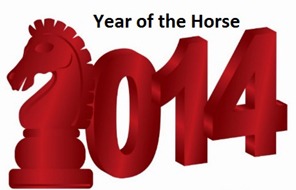 2014 year of green wooden horse