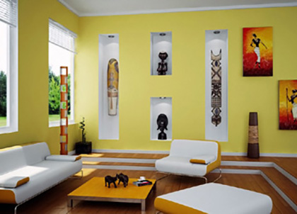 Now A Day There Is Trend Of Using Contrast In One Room Three Sides Wall Have Different Color And Fourth Will That